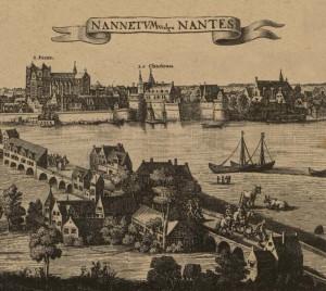 Vue perspective sud de Nantes