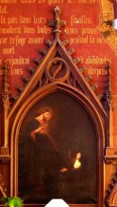 Toile peinte, l'apparition du Christ