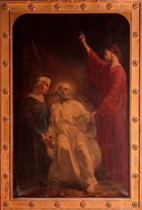 Un tableau de Gouézou représentant la mort de St Joseph