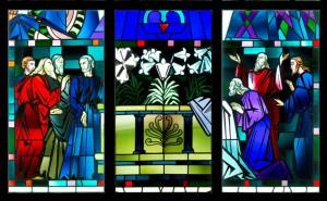 Les apôtres découvrent le tombeau de Marie, vide