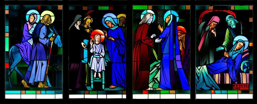 Quatre des sept douleurs de la vie de Marie