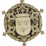 Clé de voûte, armoiries de France
