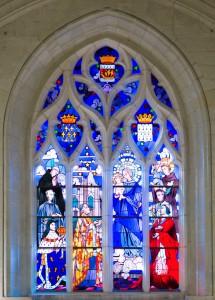 Marie et les Bienfaiteurs de la chapelle